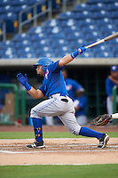 GCL Blue Jays second baseman Alfredo Bohorquez (13) at bat during a game against the GCL Phillies on August 16, 2016 at Bright House Field in Clearwater, Florida.  GCL Blue Jays defeated GCL Phillies 2-1.  (Mike Janes/Four Seam Images)