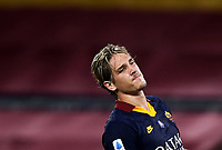 Football, Serie A: AS Roma - Hellas Verona Fc, Olympic stadium, Rome, July 15, 2020. <br /> Roma's Nicolò Zaniolo reacts during the Italian Serie A football match between Roma and Hellas Verona at Rome's Olympic stadium, on July 15, 2020. <br /> UPDATE IMAGES PRESS/Isabella Bonotto
