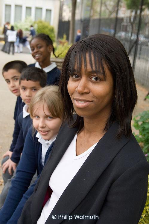 Sandra Tyrrell, Head Teacher of Christ Church Bentinck C of E Primary School, Marylebone, London.