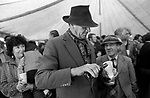 Appleby in Westmorland traditional annual gypsy Horse Fair Cumbria. 1981 Beer tent.