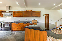 BNPS.co.uk (01202 558833)<br /> Pic: PurpleBricks/BNPS<br /> <br /> Pictured: The spacious kitchen.<br /> <br /> A luxury ten-bedroom eco-home has gone on sale for offers in excess of £850,000 - the same price as a one-bedroom flat in Chelsea.<br /> <br /> The new owner will buy the chance to become an eco-laird, as the property can be run entirely off-grid and includes four lochs and 38 acres of land which could potentially be re-wilded.<br /> <br /> Leadburn Manor at West Linton is just 12 miles south of Edinburgh in Scotland, but looks out over open countryside.