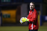 Fleetwood Town's Alex Cairns ahead of the pre-match warm-up in the The Checkatrade Trophy match between Bury and Fleetwood Town at Gigg Lane, Bury, England on 9 January 2018. Photo by Juel Miah/PRiME Media Images.
