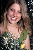 Rio Grande do Sul State, Brazil. Blonde girl with flowers - representative of Randon factory.