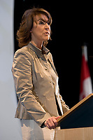 Quebec Deputy Premier Nathalie Normandeau talks at the Federation of Canadian Municipalities (FCM) congress in Quebec city Friday May 30, 2008.<br /> <br /> PHOTO :  Francis Vachon - Agence Quebec Presse