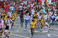 Manifestaçao contra reorganização escolar do governo Alckmin. Sao Paulo. 2015. Foto de Lineu Kohatsu.