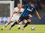 SHENZHEN, CHINA - JULY 25: Pedro Miguel Gomes Delgado of FC Internazionale Milano (R) being followed by Jose Mauri of AC Milan (L) during the AC Milan vs FC Internacionale as part of the International Champions Cup 2015 at the looks onnggang Stadium on July 25, 2015 in Shenzhen, China.  Photo by Aitor Alcalde / Power Sport Images