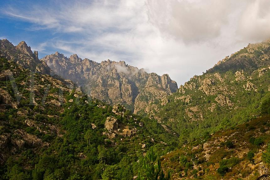 Corsica, Lower Tavignano Gorges near Corte. France.