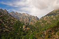 Corsica, Lower Tavignano Gorges near Corte. France.
