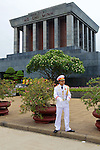 Guard In Front Of Ho Chi Minh Mausoleum