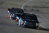 NASCAR Camping World Truck Series<br /> Toyota Tundra 250<br /> Kansas Speedway, Kansas City, KS USA<br /> Friday 12 May 2017<br /> Christopher Bell, SiriusXM Toyota Tundra and Ben Rhodes, Safelite Auto Glass Toyota Tundra<br /> World Copyright: Russell LaBounty<br /> LAT Images<br /> ref: Digital Image 17KAN1rl_5381