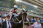 March 27, 2021: YAUPON #13 in the post parade for the Golden Shaheen on Dubai World Cup Day, Meydan Racecourse, Dubai, UAE. Shamela Hanley/Eclipse Sportswire/CSM