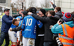 03.11.18 St Mirren v Rangers: Daniel Candeias mobbed by the fans
