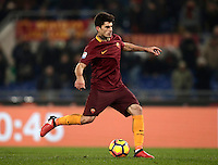 Calcio, Serie A: Roma vs ChievoVerona. Roma, stadio Olimpico, 22 settembre 2016.<br /> Roma's Diego Perotti prepares to kick to score on a penalty during the Italian Serie A football match between Roma and Chievo Verona, at Rome's Olympic stadium, 22 December 2016.<br /> UPDATE IMAGES PRESS/Isabella Bonotto