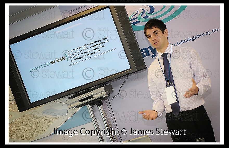 30/04/2008   Copyright Pic: James Stewart.File Name : 24_business_fair.FALKIRK BUSINESS FAIR 2008.ENVIROWISE :: ROBBIE WEIR : PROJECT MANAGER.James Stewart Photo Agency 19 Carronlea Drive, Falkirk. FK2 8DN      Vat Reg No. 607 6932 25.Studio      : +44 (0)1324 611191 .Mobile      : +44 (0)7721 416997.E-mail  :  jim@jspa.co.uk.If you require further information then contact Jim Stewart on any of the numbers above........