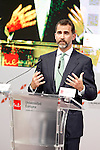 """Prince Felipe of Spain during his speech in Congress """"LAUREATE & JOBS SUMMIT ON YOUTH"""".May 21,2013. (ALTERPHOTOS/Acero)"""