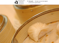 Har gau, shrimp dumplings at Victoria seafood in Hong Kong.