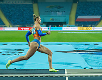 1st May 2021; Silesian Stadium, Chorzow, Poland; World Athletics Relays 2021. Day 1; Klaver takes the bend for the Netherlands in the mixed 4 x 400 heats