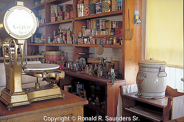 INTERIOR of OLD-FASHIONED DRY GOODS STORE at OLD TOWN BURLINGTON