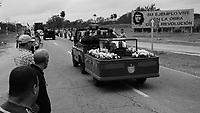 Fidel Castro's funeral procession passing through Sancti Spíritus Province, Cuba ,  1 December 2016<br /> <br /> <br /> PHOTO : Axelode