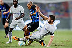 Chelsea Defender Gary Cahill (R) trips up with FC Internazionale Midfielder Joao Mario (L) during the International Champions Cup 2017 match between FC Internazionale and Chelsea FC on July 29, 2017 in Singapore. Photo by Marcio Rodrigo Machado / Power Sport Images