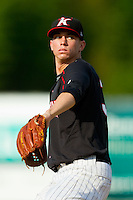 Kannapolis Intimidators starting pitcher Adam Lopez (30) in action against the Rome Braves at CMC-Northeast Stadium on August 25, 2013 in Kannapolis, North Carolina.  The Intimidators defeated the Braves 9-0.  (Brian Westerholt/Four Seam Images)
