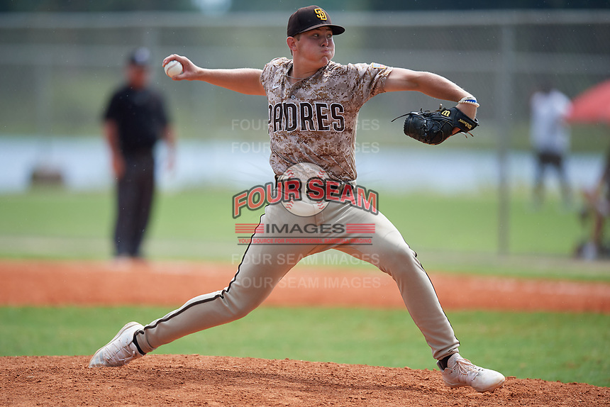 Elijah Jones (12) during the WWBA World Championship at Lee County Player Development Complex on October 11, 2020 in Fort Myers, Florida.  Elijah Jones, a resident of Peachtree City, Georgia who attends Starrs Mill High School, is committed to South Carolina.  (Mike Janes/Four Seam Images)