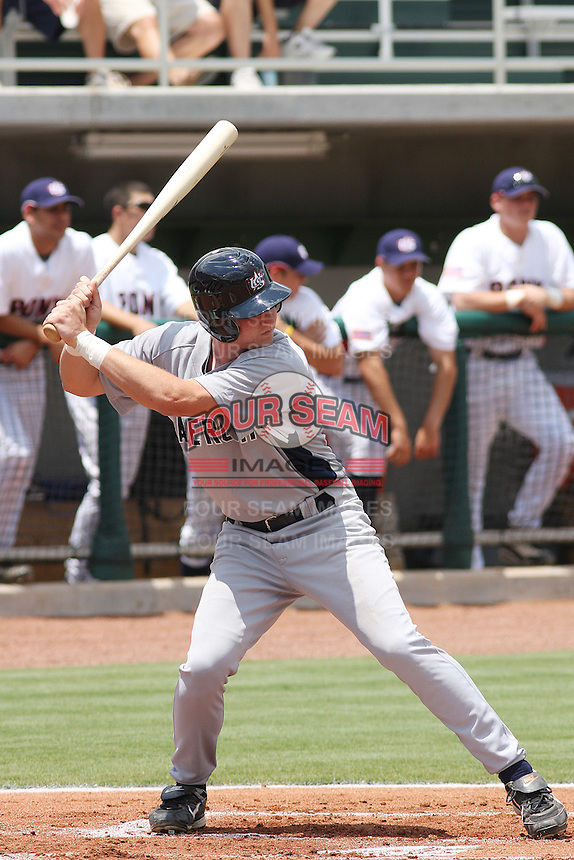 Travis Harrison of Tustin High School in Aliso Viejo, California, playing for the Babe Ruth team at the Tournament of Stars event run by USA Baseball at the USA Baseball National Training Complex in Cary, NC on June 23, 2009. He is a prospect for the 2011 MLB draft. Photo by Robert Gurganus/Four Seam Images
