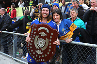 Taieri's Brodie Hume with Paula Hume following  the Dunedin Premier club rugby final between Green Island and Taieri played at Forsyth Barr Stadium in Dunedin, on Saturday 31st July, 2021. © John Caswell/Caswell Images