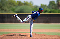 Texas Rangers pitcher Tyree Thompson (50) follows through on his delivery during an Instructional League game against the San Diego Padres on September 20, 2017 at Peoria Sports Complex in Peoria, Arizona. (Zachary Lucy/Four Seam Images)