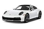 2020 Porsche 911 Carrera S 2 Door Coupe angular front stock photos of front three quarter view