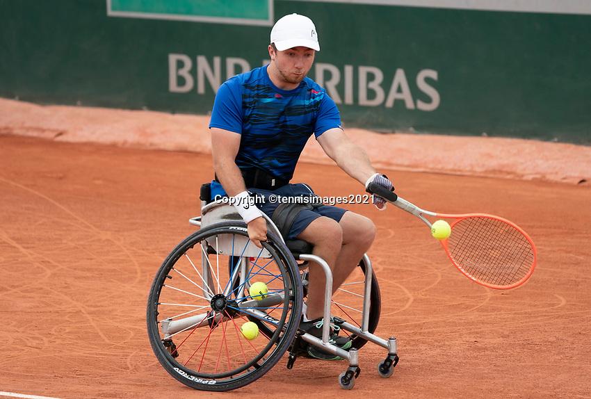 Paris, France, 5 june 2021, Tennis, French Open, Roland Garros, Quad Wheelchair Men's single semi final: Sam Schroder(NED) <br /> Photo: tennisimages.com