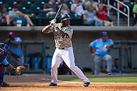 Courtney Hawkins (10) of the Birmingham Barons at bat against the Tennessee Smokies at Regions Field on May 3, 2015 in Birmingham, Alabama.  The Smokies defeated the Barons 3-0.  (Brian Westerholt/Four Seam Images)