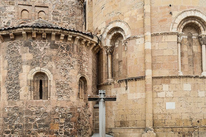 Iglesia de San Andrés, detail of church, Segovia, Spain