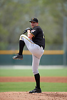 Pittsburgh Pirates Bret Helton (91) during a minor league Spring Training game against the Toronto Blue Jays on March 24, 2016 at Pirate City in Bradenton, Florida.  (Mike Janes/Four Seam Images)