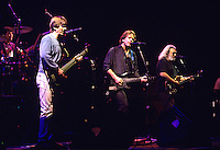 """The Grateful Dead perform during a concert in Oakland.   The remaining members of the band will reunite for the final time for the """"Fare Thee Well"""" concerts  over July 4th weekend in 2015."""