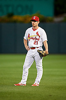 Springfield Cardinals second baseman Casey Turgeon (21) during a game against the Corpus Christi Hooks on May 31, 2017 at Hammons Field in Springfield, Missouri.  Springfield defeated Corpus Christi 5-4.  (Mike Janes/Four Seam Images)