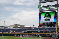 TD Ameritrade Park before Game 1 of the NCAA College World Series against the Texas Tech Red Raiders on June 15, 2019 in Omaha, Nebraska. Michigan defeated Texas Tech 5-3. (Andrew Woolley/Four Seam Images)