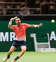 Rotterdam, The Netherlands, 14 Februari 2019, ABNAMRO World Tennis Tournament, Ahoy, quarter finals, singles, Damir Dzumhur (BIH), <br /> Photo: www.tennisimages.com/Henk Koster