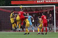 Callum Leahy of Bowers goes close during Bowers & Pitsea vs Hornchurch, Emirates FA Cup Football at The Len Salmon Stadium on 2nd October 2021