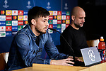 David Silva attends to Manchester City Press Conference at Santiago Bernabeu Stadium in Madrid, Spain. February 25, 2020. (ALTERPHOTOS/A. Perez Meca)