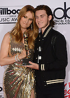 Celine Dion + son Rene Charles @ the 2016 Billboard music awards held @ the T-Mobile arena.<br /> May 22, 2016