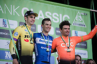 podium:<br /> 1st place Zdenek Stybar (CZE/Deceuninck Quick Step)<br /> 2nd place Wout Van Aert (BEL/Jumbo-Visma)<br /> 3th place Greg Van Avermaet (BEL/CCC)<br /> <br /> 62nd E3 Harelbeke 2019 (1.UWT)<br /> Harelbeke – Harelbeke: 203,9km<br /> ©kramon