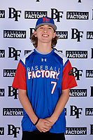 Kristopher Anglin (7) of Frontier High School in Bakersfield, California during the Baseball Factory All-America Pre-Season Tournament, powered by Under Armour, on January 12, 2018 at Sloan Park Complex in Mesa, Arizona.  (Mike Janes/Four Seam Images)
