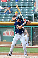 Derek Dietrich (3) of the New Orleans Zephyrs at bat against the Salt Lake Bees in Pacific Coast League action at Smith's Ballpark on August 27, 2014 in Salt Lake City, Utah.  (Stephen Smith/Four Seam Images)