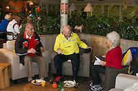 Hilversum, The Netherlands, 05.03.2014. NOVK ,National Indoor Veterans Championships of 2014, tea time<br /> Photo:Tennisimages/Henk Koster