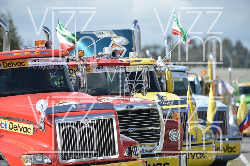 TOCANCIPÁ -COLOMBIA. 14-07-2013. 26° Gran Premio Nacional De Tractomulas realizado hoy en el autodromo de Tocancipá, Colombia./ 26th  National Trucks Grand Prix at Tocancipa racetrack today in Tocancipa, Colombia. Photo: VizzorImage / Str