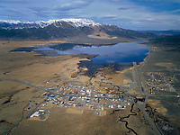 aerial photograph of Bridgeport, Mono County, California