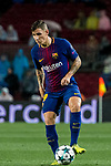 Lucas Digne of FC Barcelona in action during the UEFA Champions League 2017-18 match between FC Barcelona and Olympiacos FC at Camp Nou on 18 October 2017 in Barcelona, Spain. Photo by Vicens Gimenez / Power Sport Images