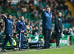 Celtic v St Johnstone...23.01.16   SPFL  Celtic Park, Glasgow<br /> Tommy Wright argues with ref Kevin Clancy<br /> Picture by Graeme Hart.<br /> Copyright Perthshire Picture Agency<br /> Tel: 01738 623350  Mobile: 07990 594431