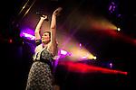 © Joel Goodman - 07973 332324 . 26/08/2016 . Manchester , UK . SOPHIE ELLIS-BEXTOR performs on the main stage at Manchester's Gay Village for 2016 Manchester Gay Pride Big Weekend . Photo credit : Joel Goodman